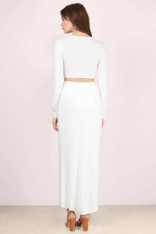 taupe maxi dress - brown dress - v neck dress - $92.00