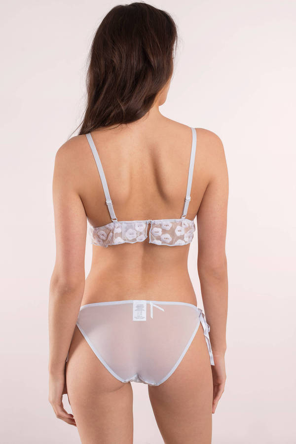 Cute Lavender Underwear - Embroidered Underwear