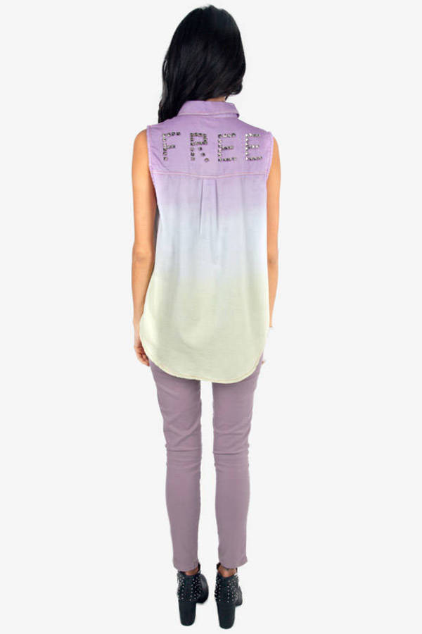Reverse Dye Free Sleeveless Shirt