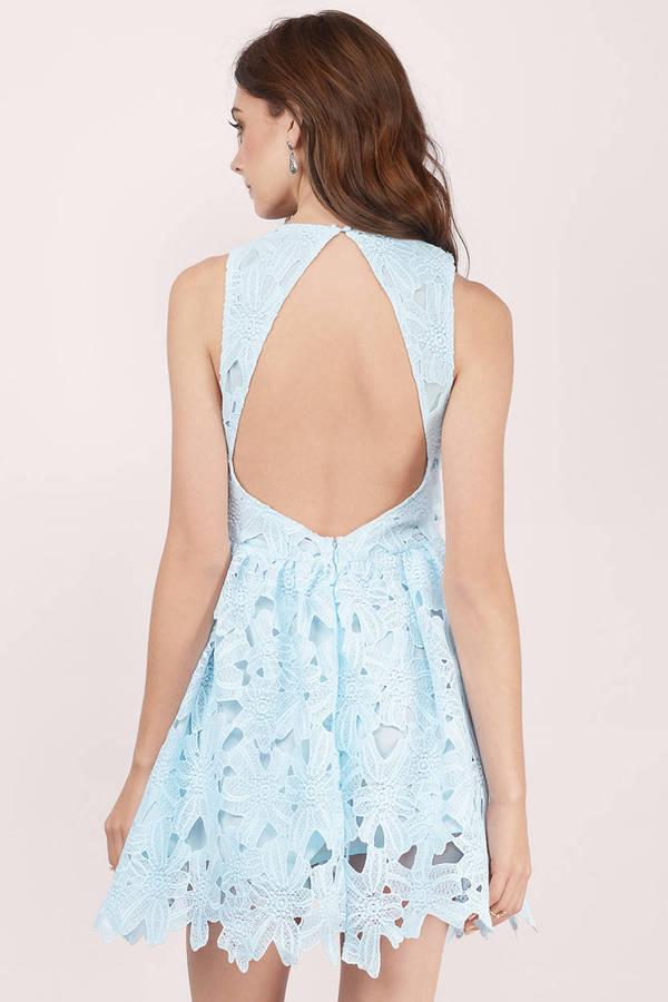 9a8f969bd07 Cheap Light Blue Skater Dress - Sleeveless Dress - Skater Dress ...
