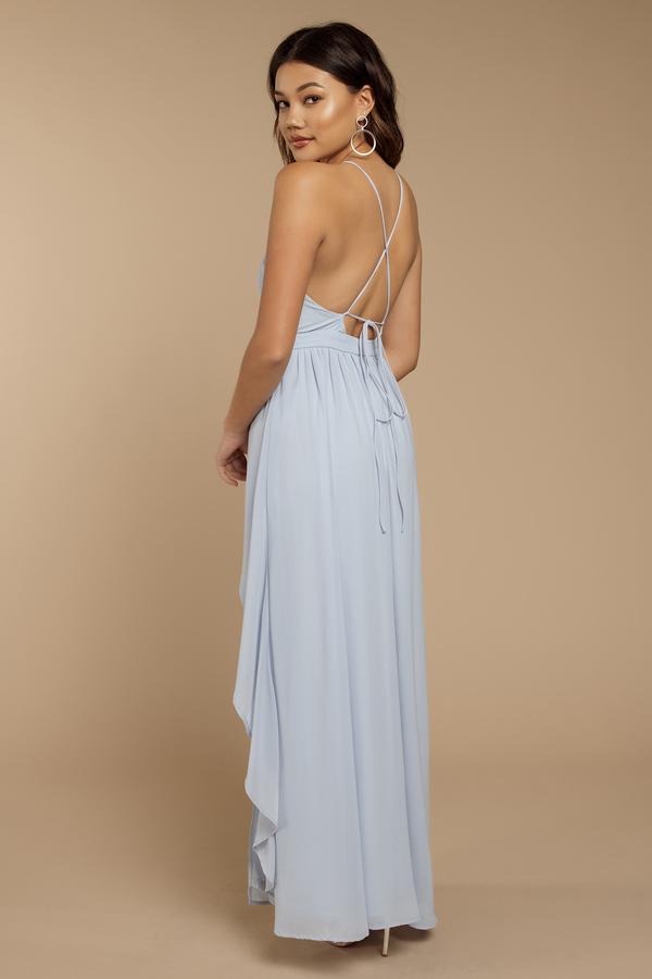 d76ab0d869 Helena Light Blue Halter Maxi Dress -  39