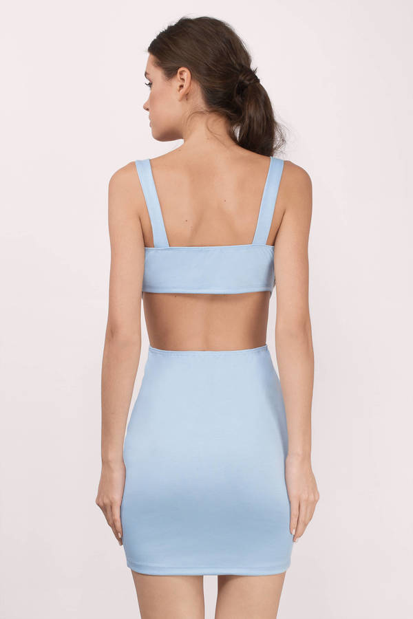 a355d871a501 Sexy Light Blue Dress - Cut Out Dress - Beautiful Light Blue Dress ...