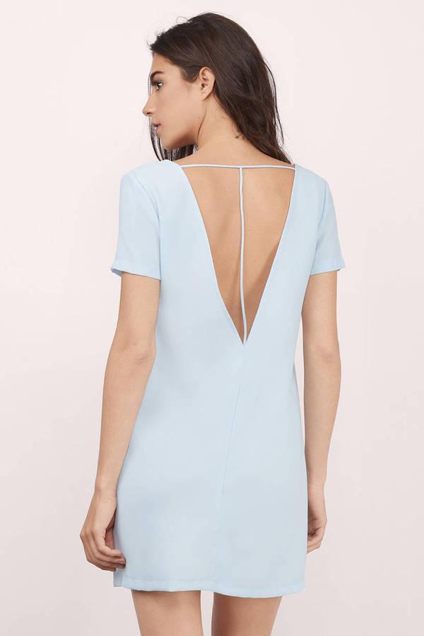 Shift dress light blue