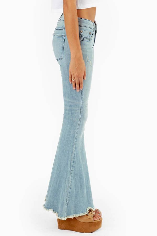 Eunina Bopple Flared Denim Jeans