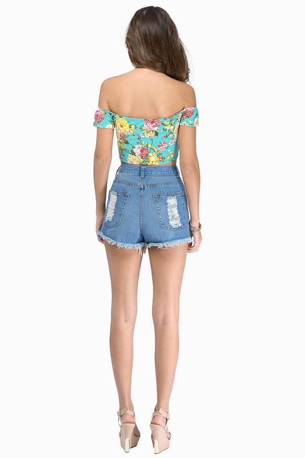 Skyline Denim Shorts