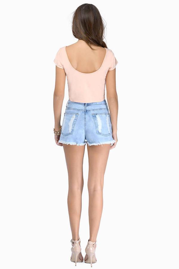 Wrecked Denim Shorts