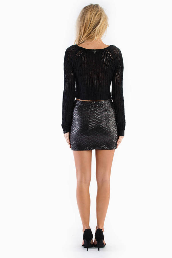 Waves of Sequin Skirt
