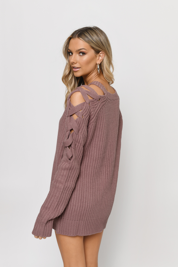 Purple Sweater - Crew Neck Jumper - Party Sweater - Purple Ribbed ... d5561c625