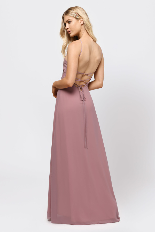 Rise Above Light Blue Lace Up Maxi Dress - $46 | Tobi US