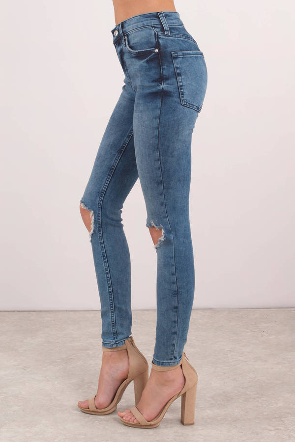 059683c869d7 ... Free People Free People High Rise Medium Wash Busted Skinny Jeans ...