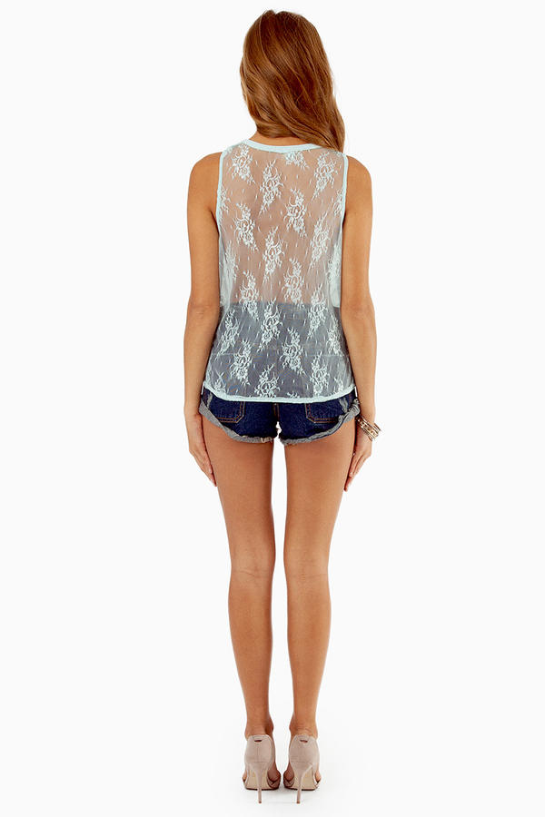 Cross My Lace Back Top