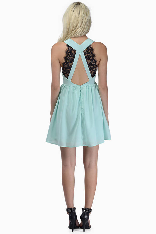 Deep V Lace Back Dress