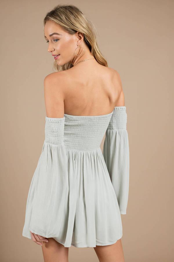 Long Sleeve Skater Dress Mint