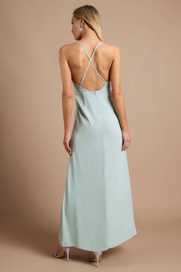 Pretty Mint Maxi Dress Long Dress Mint Semi Formal Dress 44