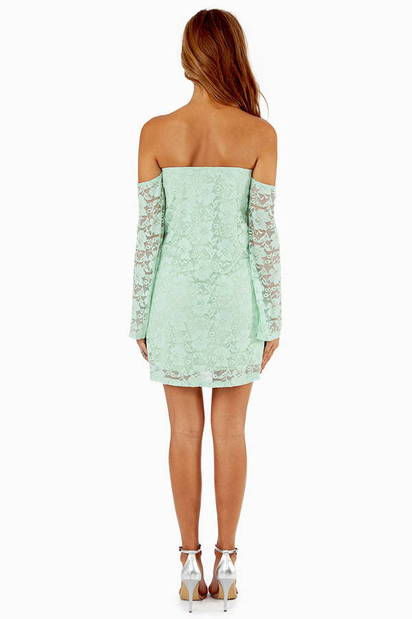 Lace Off My Shoulder Dress