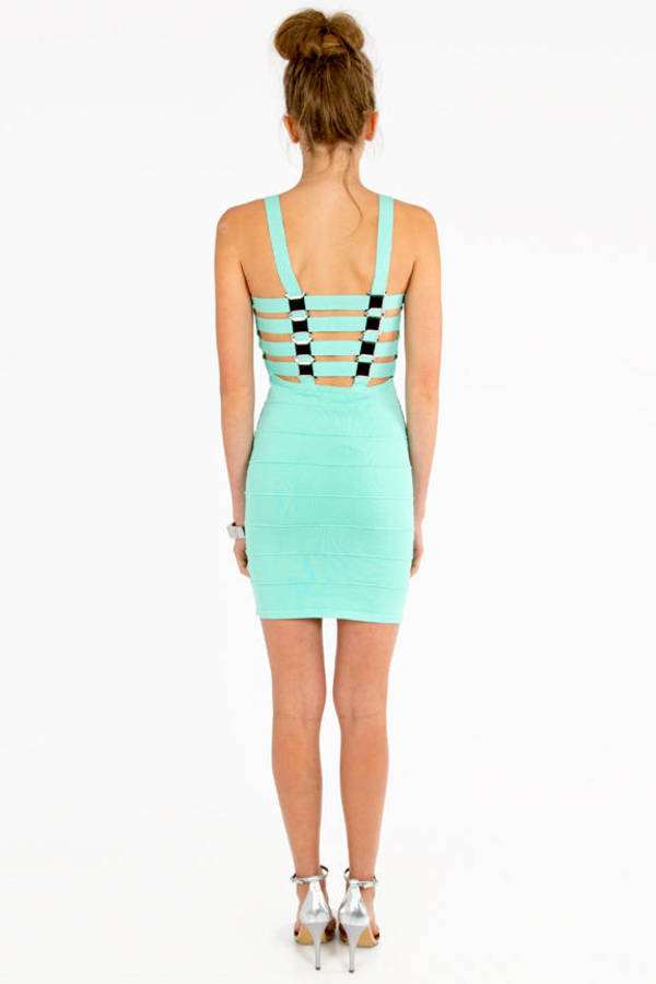 Octometal Lattice Bandage Dress