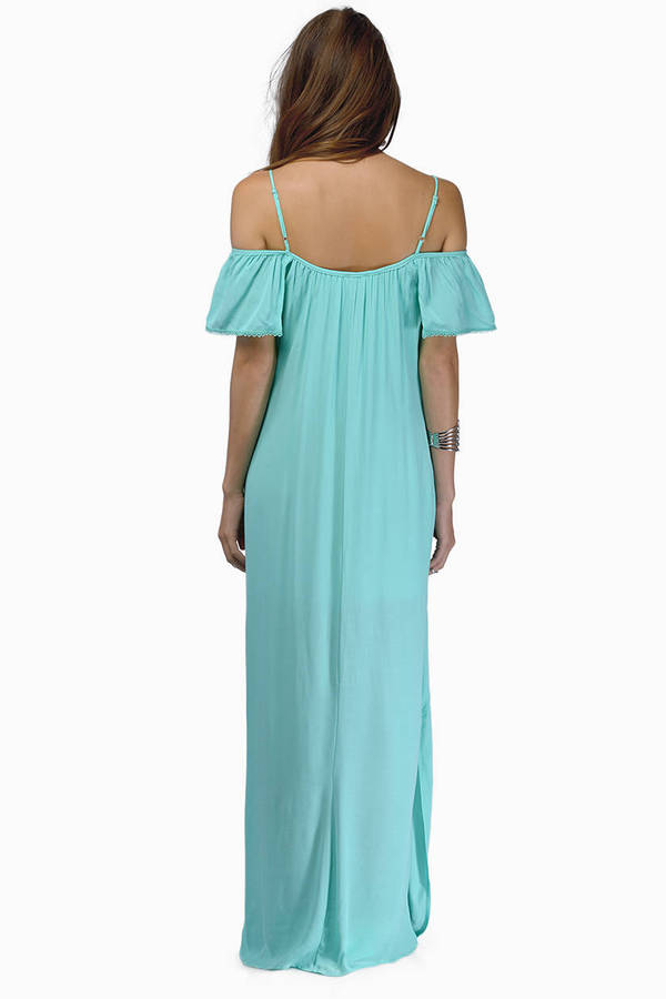 Shoulder Shrug Maxi Dress