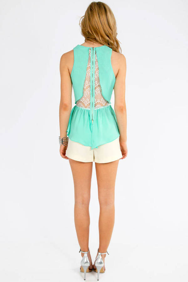 Lady Lace Peplum Top