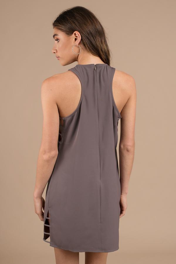 de8791b8a4 Grey Shift Dress - Casual Dress - Grey Strappy Dress - Work Dress ...