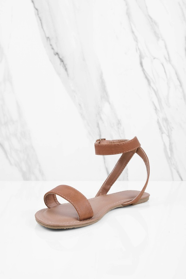 ee429b34df8d Mocha Sandals - Ankle Strap Sandals - Single Strap Mocha Sandals ...