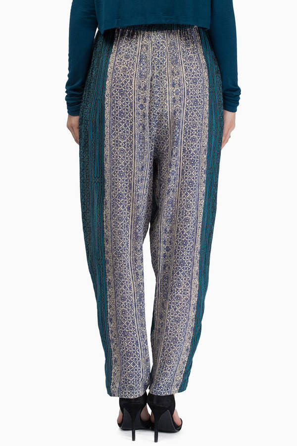 somedays lovin Blue Saloon Harem Pants