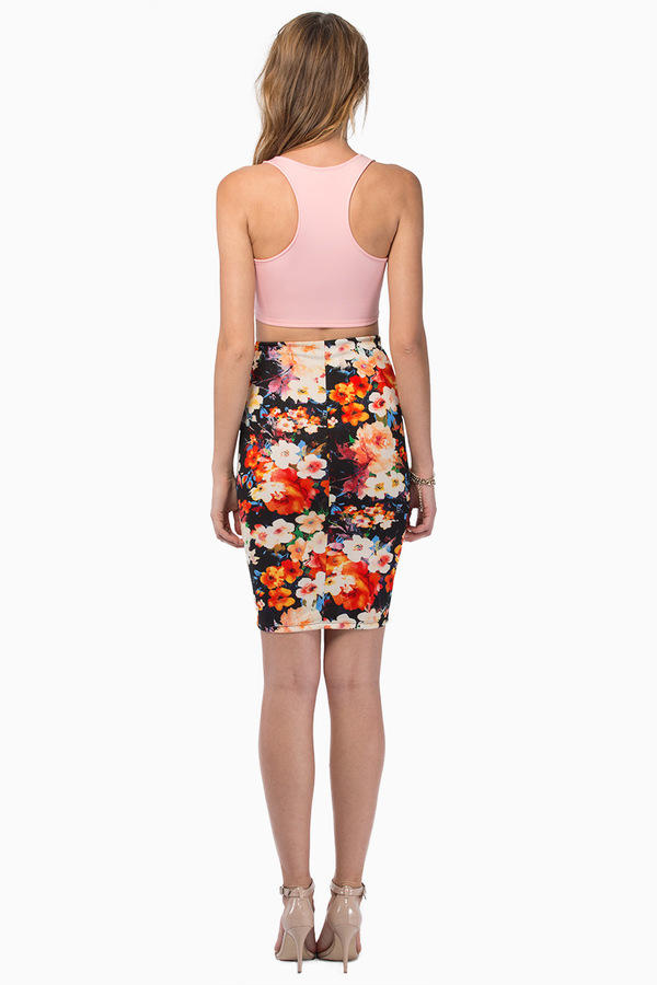 Heather Floral Skirt