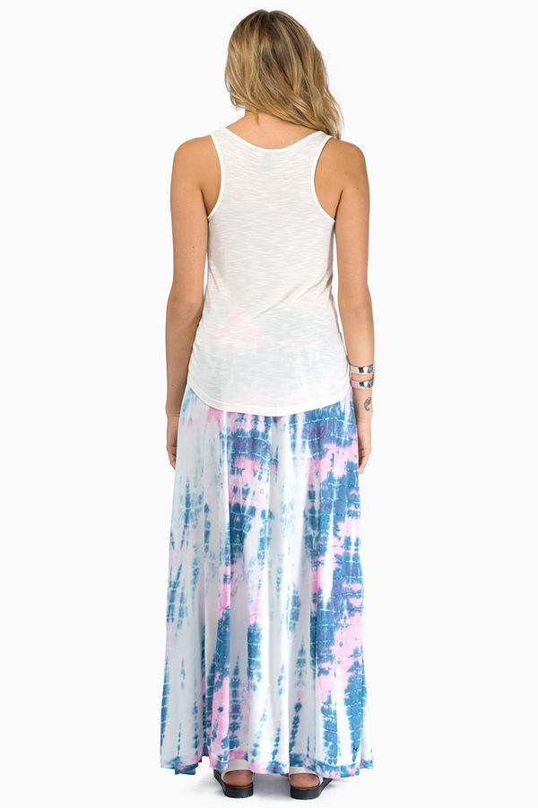 somedays lovin Kwando Tie Dye Maxi Skirt