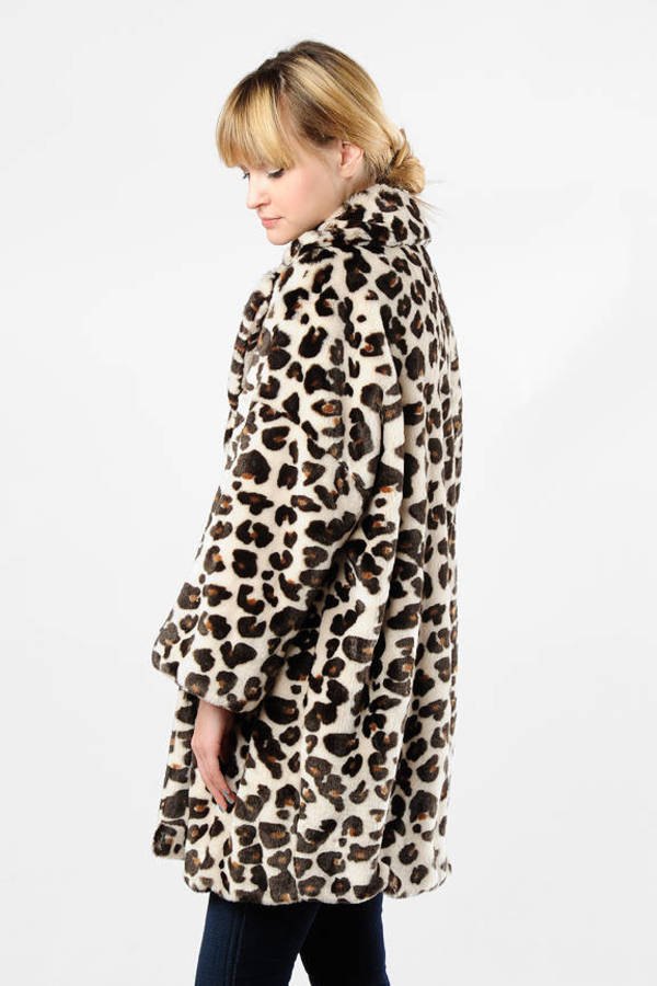 38e762bf17 Brown Sonia By Sonia Rykiel Coat - Leopard Print Coat - Brown Puffy ...