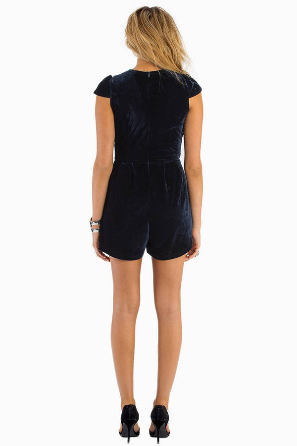 Black As Night Velour Romper
