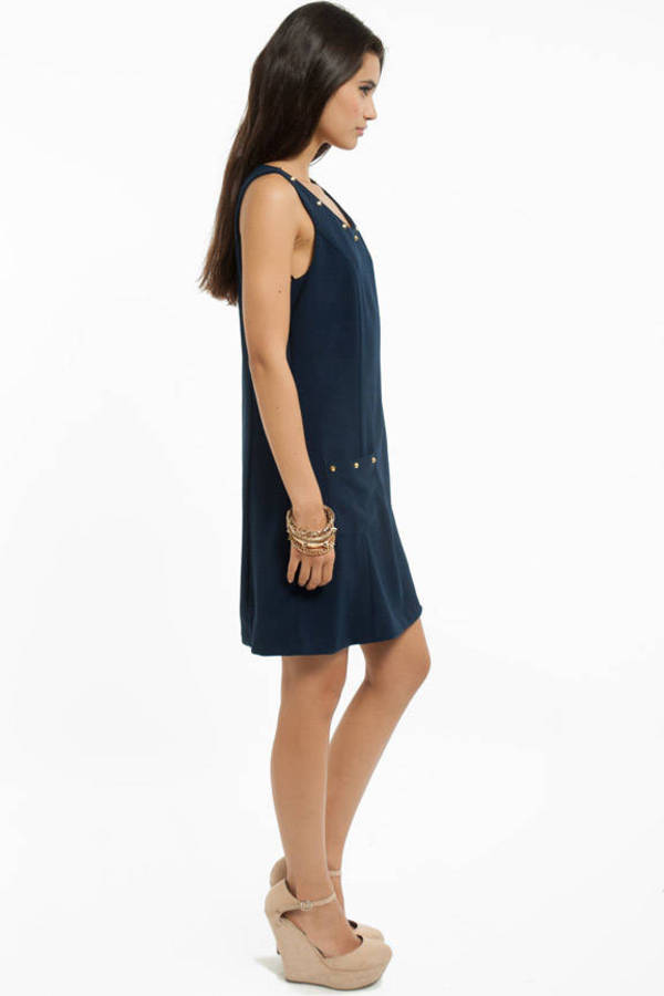 Suzanne Studded Shift Dress