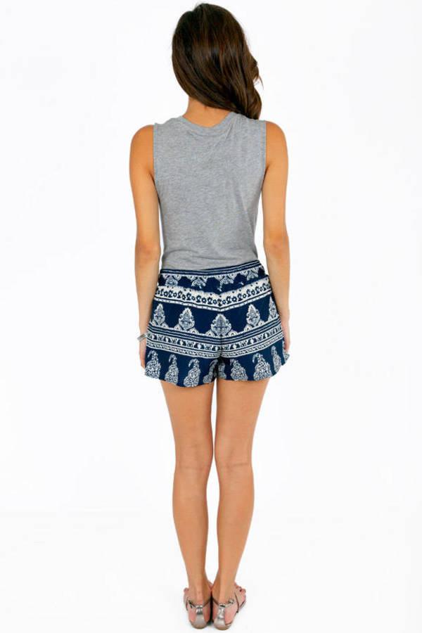 Tanya Tribal Drawstring Shorts