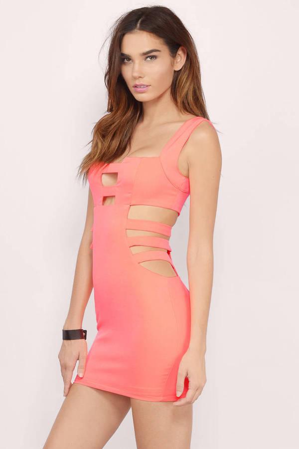 Cut In The Side Bodycon Dress