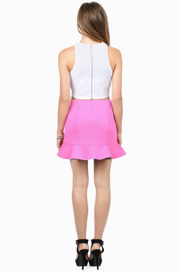 Trendy Neon Pink Skirt - Pink Skirt - Mini Skirt - $12.00