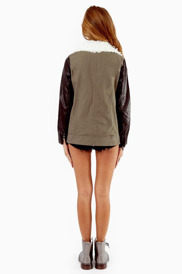 Reverse Fur Collar Jacket