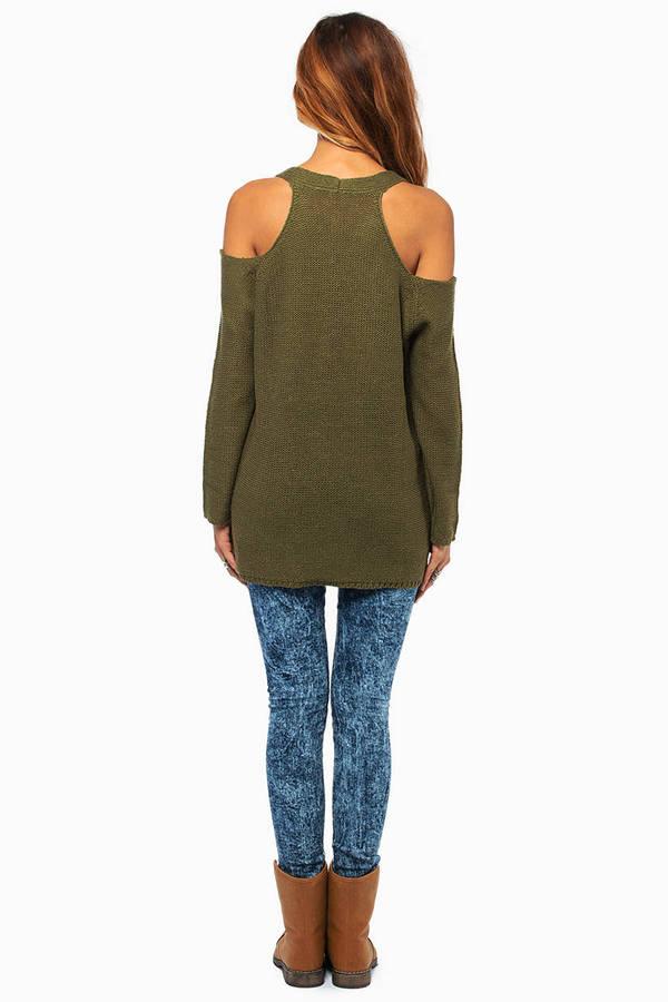 Cold Shoulder Oversized Sweater