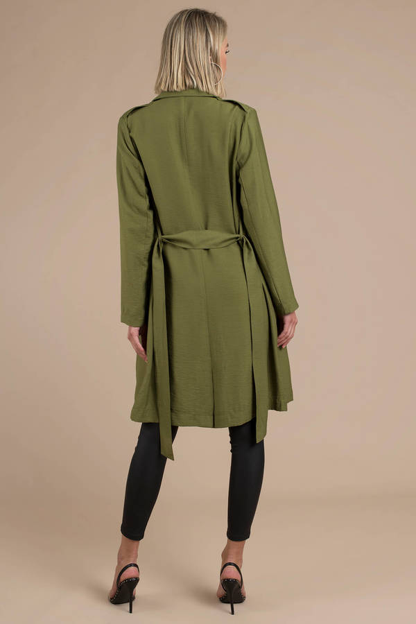 0937aae4aebd ... The Fifth Label The Fifth Label Crew Olive Trench Coat