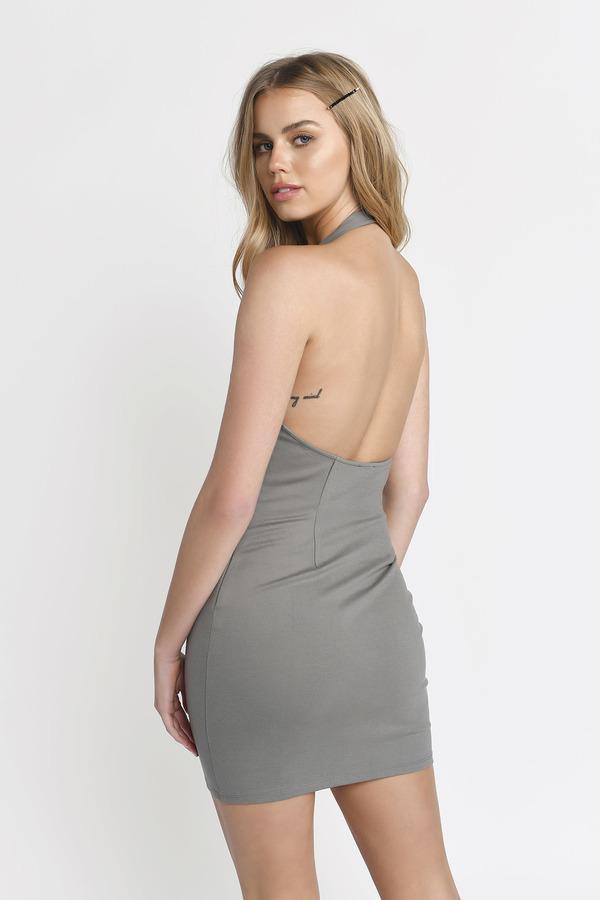 934d8fa0059b Sexy Dress - Ladder Trim Dress - Plunging - Black Dress - € 19   Tobi IE