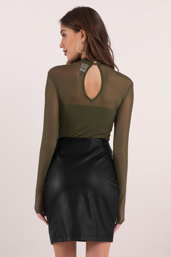 736a13c0ca1 Sexy Black Bodysuit - Mock Neck Bodysuit - Black Bodysuit - kr 310 ...