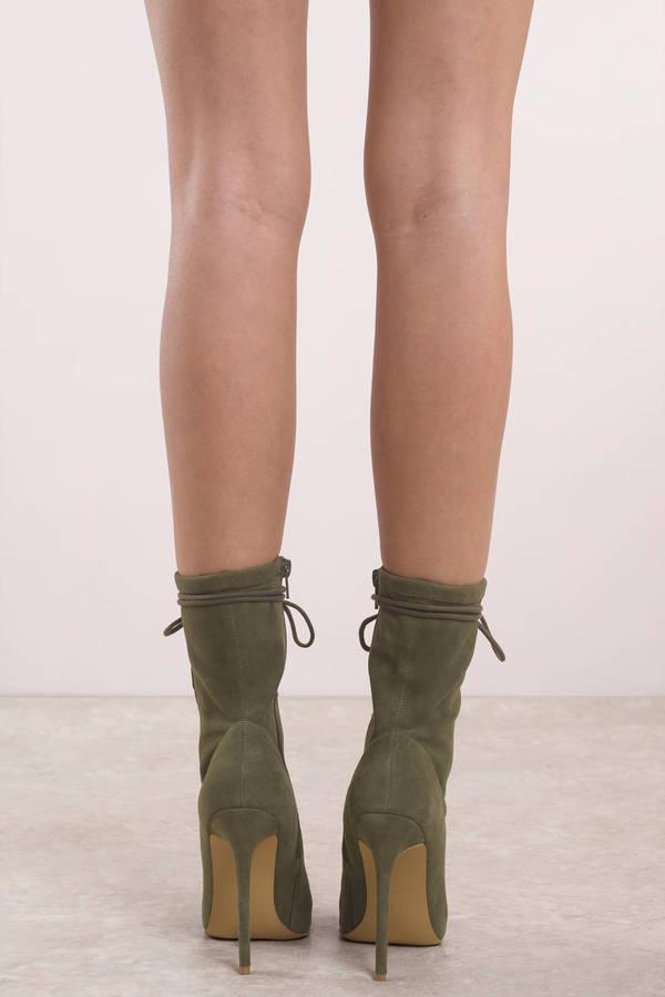 5411305e978f ... Steve Madden Steve Madden Satisfied Olive Lace Up Heels