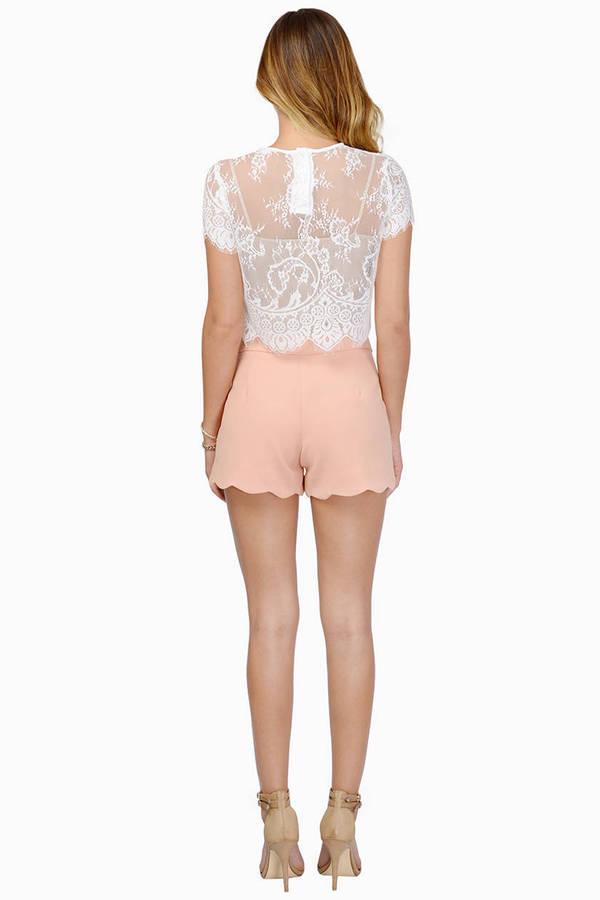 Marci Scalloped Shorts