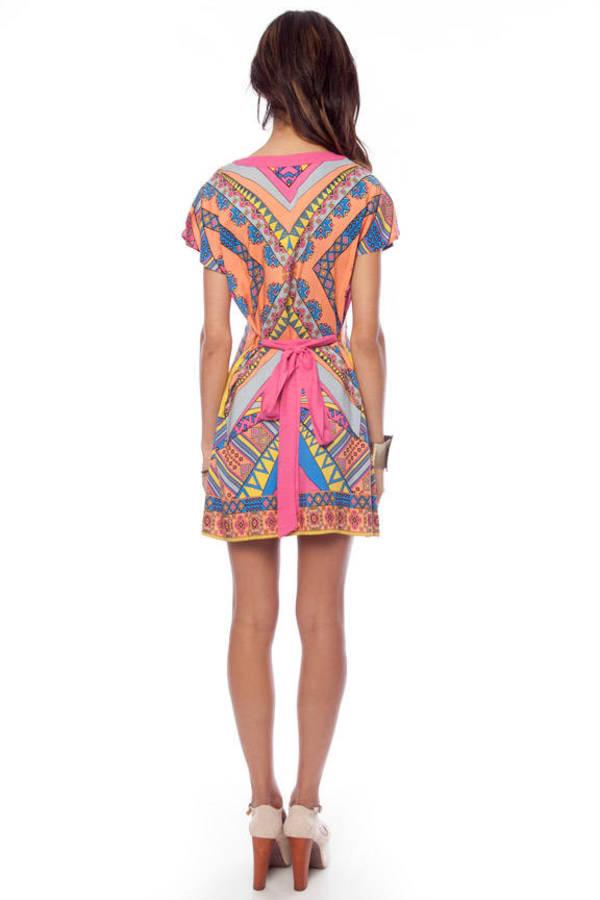 Flying Tomato Indie Kimono Tunic Dress
