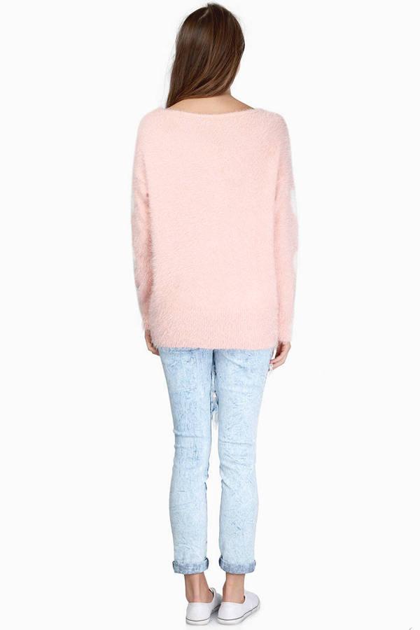 Pink Sweater - Fuzzy Sweater - Cute Pastel Sweaters - $13 | Tobi US