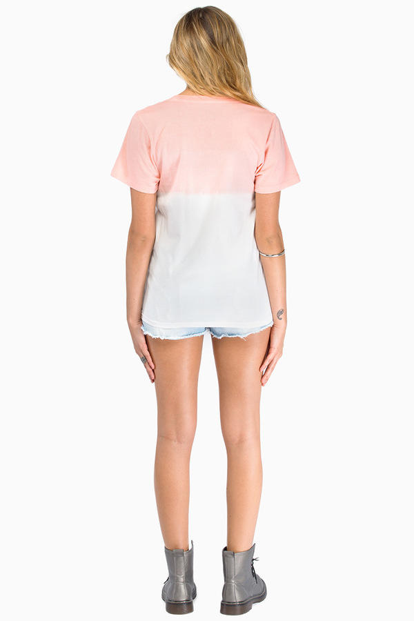 Glamour Kills Good Vibin' Dip Dye Scoop Tee