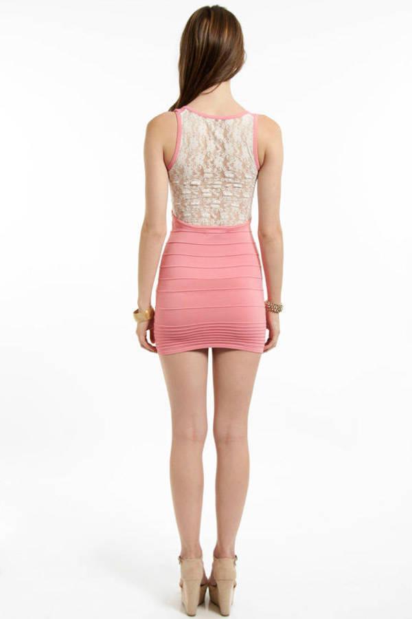 Race to Lace Bandage Dress