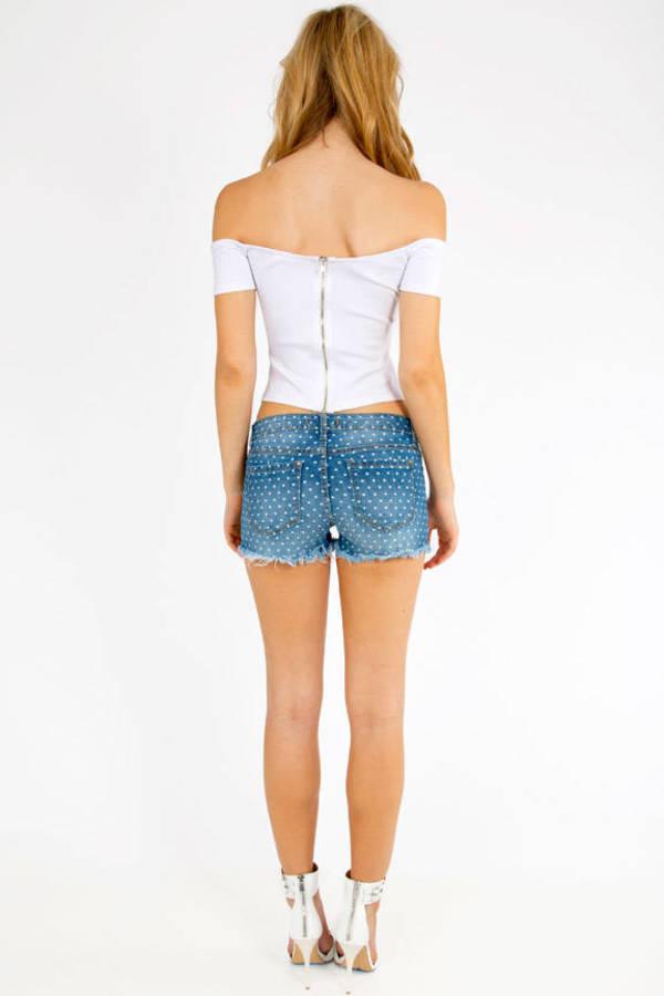 High Rise Cutoff Shorts