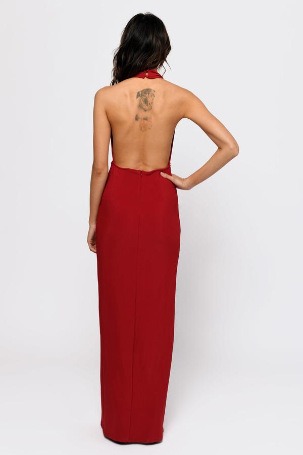 7c333b0237 Red Maxi Dress - Halter Maxi Dress - Stunning Red Dress -  39
