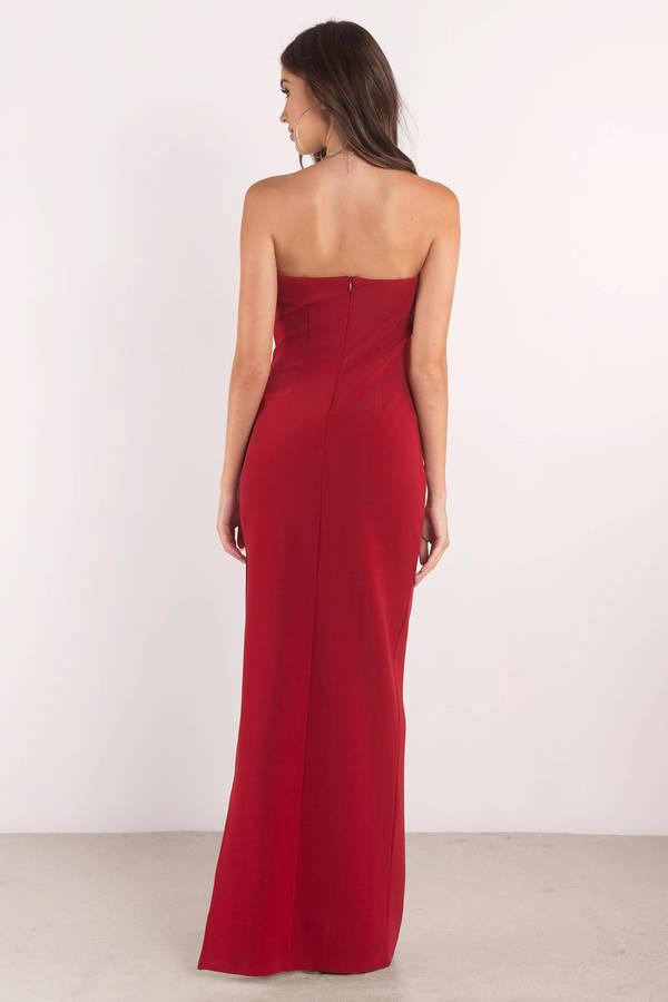 f0a310a3498 Black Dress - Strapless Dress - Black Elegant Dress - Maxi Dress ...