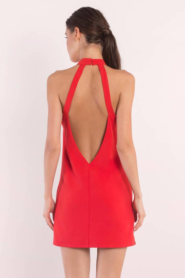 Cute Red Dress - Cut Out Dress - Pretty Red Dress - Shift Dress ... dc6353b7a