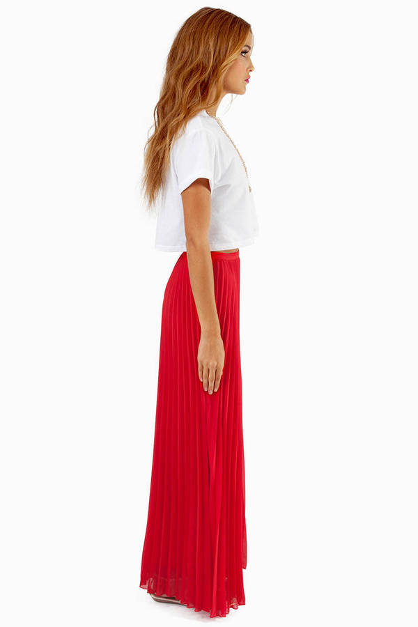 Lost In Folds Maxi Skirt