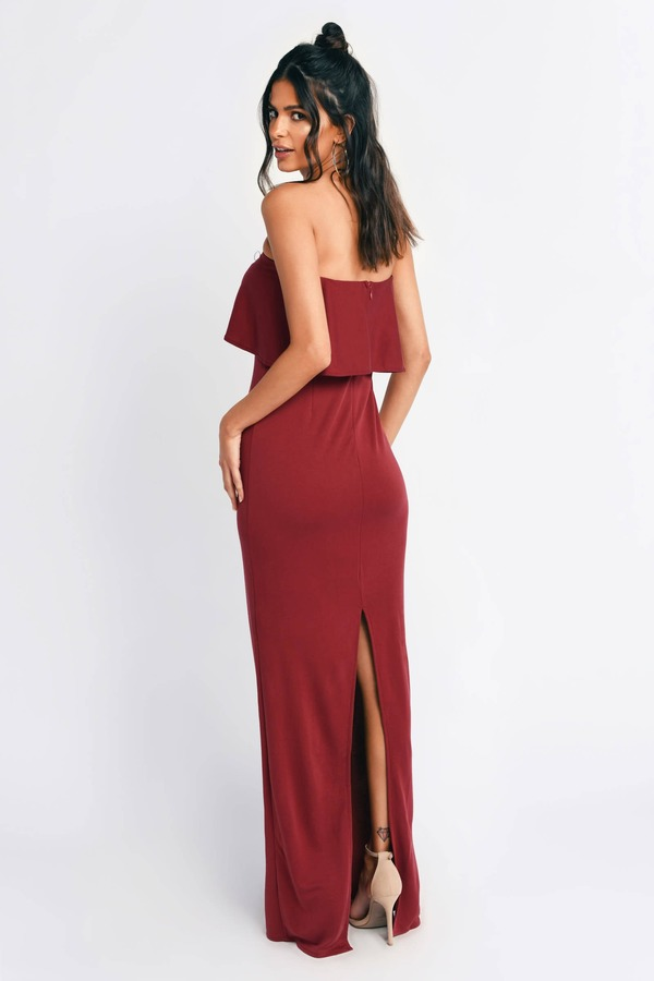c8652c548bc9d1 Chic Red Maxi Dress - Sleeveless Maxi Dress - Red Gown - Bodycon ...